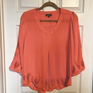 Market Spruce coral blouse